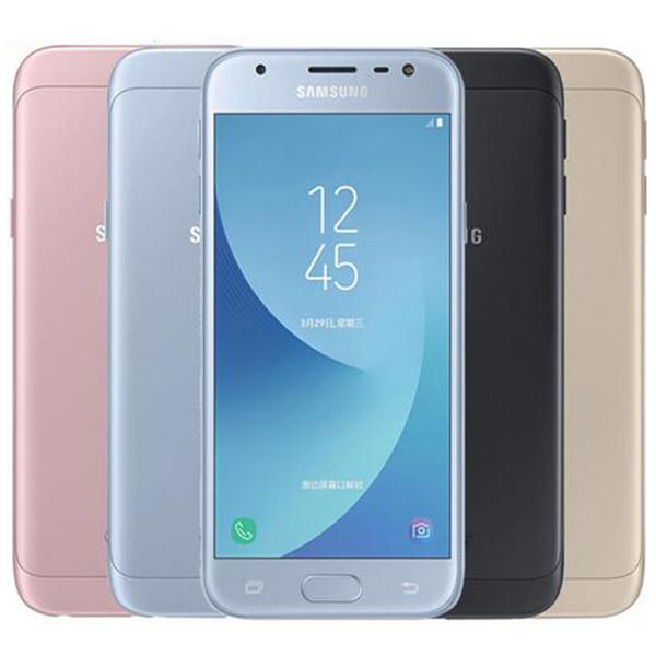 Generalüberholte Original Samsung Galaxy J3 2017 J3300 Dual SIM 5,0 Zoll Quad Core 3 GB RAM 32 GB ROM 13MP 4G LTE entsperrt Smartphone DHL 10 Stück