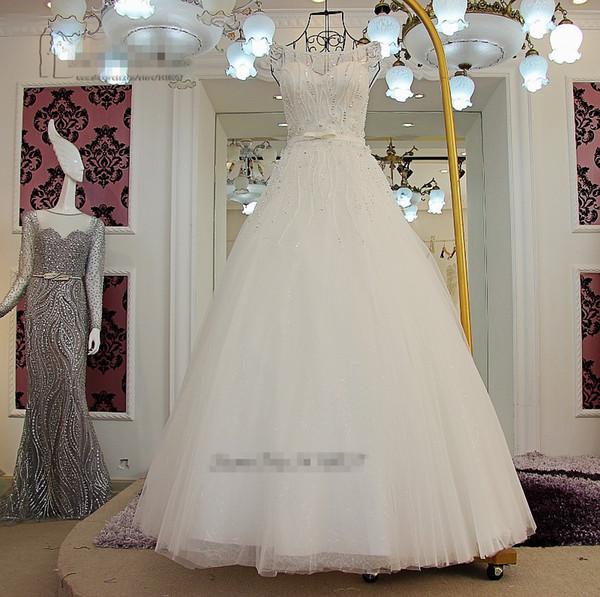2018 A Linie Vintage Spitze Hochzeitskleid Princesa Perlen Kristalle Pailletten Braut Hochzeit Brautkleider Brautkleid