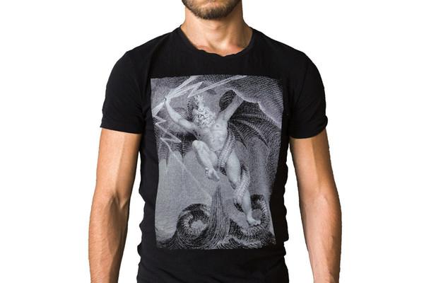 Hobbs Engel Des Todes Himmel Geblutet 2016 Album Cover T-Shirt Kurzarm Hip Hop T-shirt top tee