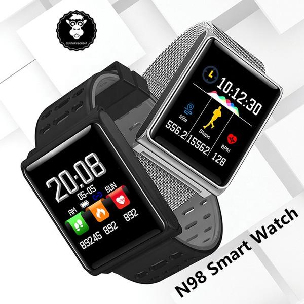 N98 Smartwatch Touch Screen Multiple Languages Health Movement Sports Bracelet Smart Watch for Man Waterproof Bracelet Alarm Clock PK DZ09