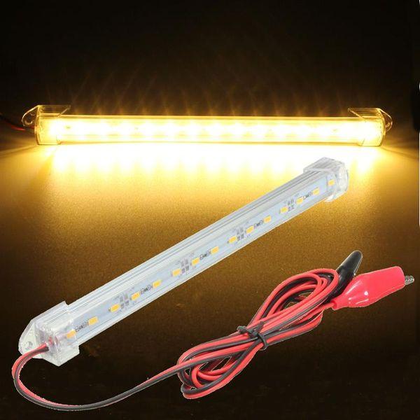 23,5 cm 12 V SMD 5630 LED Auto Innenbeleuchtung Bar Rohr Streifen Lampe Van Boot Caravan Wohnmobil Lkw Weiß Gelb