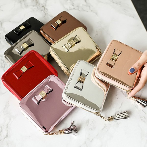 2018 Coin Purses Leather PU Coin Purse Women Small Girls Money Bags Pocket Wallets Key Holder Case Mini Pouch Zipper Tassel Bag