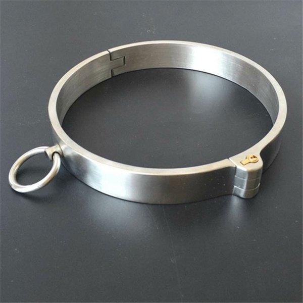 Heavy Metal BDSM Pure Hand-Polished Collar 304# Stainless Steel Collar For Women And Men Bondage Restraints