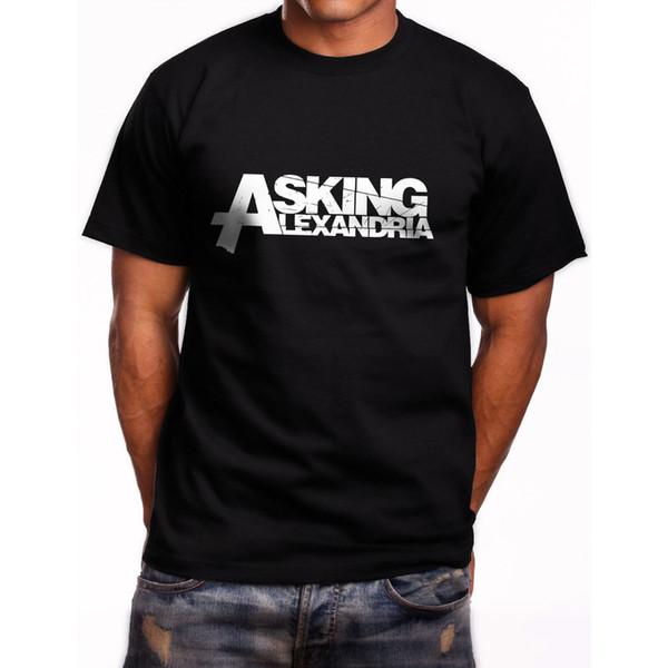 Neu Asking Alexandria Logo Kurzarm Herren Schwarz T-Shirt Größe S bis 3xl Kurzarm T-Shirt Tops New Man Design Print