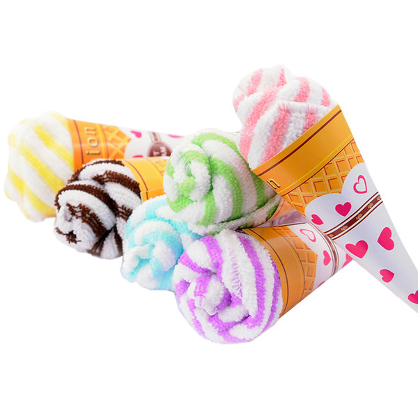 30pcs Ice Cream Towel Personalized Wedding Gift Thank You Guest Favor Wholesale Item Gear Stuff Accessories Supplies Product