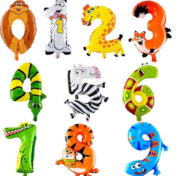 16 inç Karikatür dijital alüminyum folyo Balonlar Hayvan Arapça doğum günü Düğün Dekorasyon Çocuk Oyuncakları için sayısal Balon