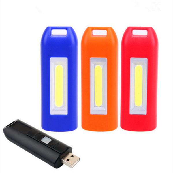 0.5w Cob USB Rechargeable Torche LED Lampe Lampe Torche Porte-Clés Rechargeable