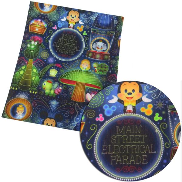 50 * 145 cm patchwork baskılı Polyester pamuk kumaş Doku Çocuk Yatak ev tekstili Dikiş Tilda Bebek için, 56571