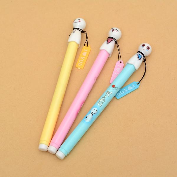 1 Pics 0.38mm Japanese Sunny Doll Sakura Black Kawaii Chinese Cute Glitter Korean Gel Pen Korea School Supplies Stationery Pens