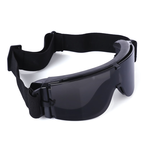 Tactical Goggles Protective Glasses with Pouch for CS Game Hunting Glasses Tactical Goggle Eyewear Wind Protection Hiking Glasses Sunglasses