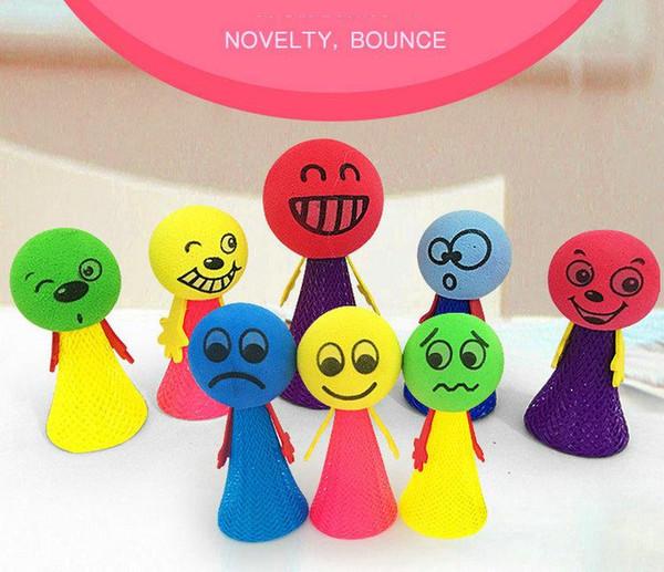 Bounce people 6.5 cm 9 cm descompresión juguete creativo dedo de los niños de la novedad de rebote pequeña persona colorido Elfs regalo de los niños