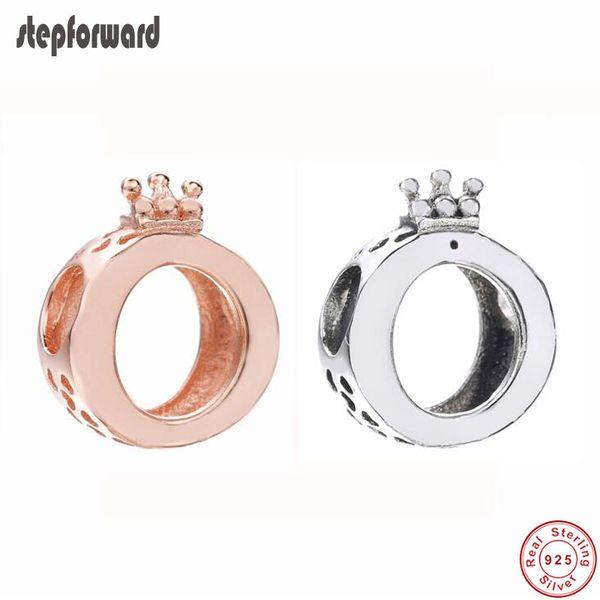 Yeni Koleksiyon Yüksek Kalite Klasik Logo 925 Ayar Gümüş Taç O Charm Uydurma Avrupa Gümüş Charm Bilezik