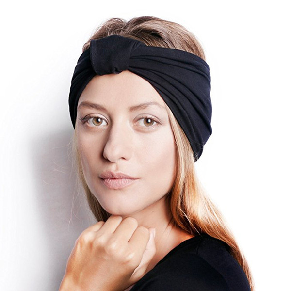 Europe and the United States new fashion Variety Knitted cotton knotted wide headband stretch sports yoga hair band ladies hair accessories
