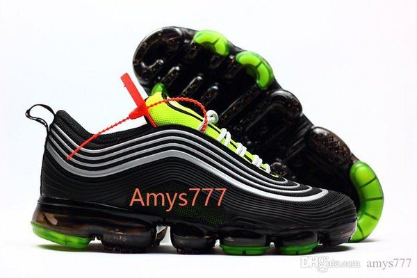 Compre Nike Air Max 97 Airmax 97 OG QS UNDEFEATED OG UNDFTD Triple Blanco 97 Negro Verde Plata Bala Metal Color Oro Gris Japonés Zapatos Deportivos