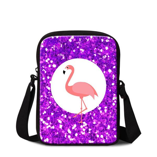 Cute Animal Flamingo Mini Messenger Bag For Boy Girl Women's Small Crossbody Shoulder Bags For Traveling Children Fashion School Bag Flaps