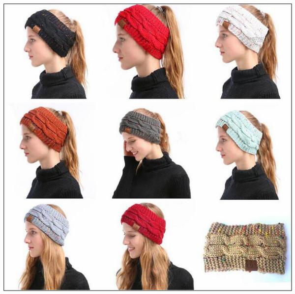 Compre es Cc De Punto De Las Vendas De Las Mujeres Invierno Headwrap ...