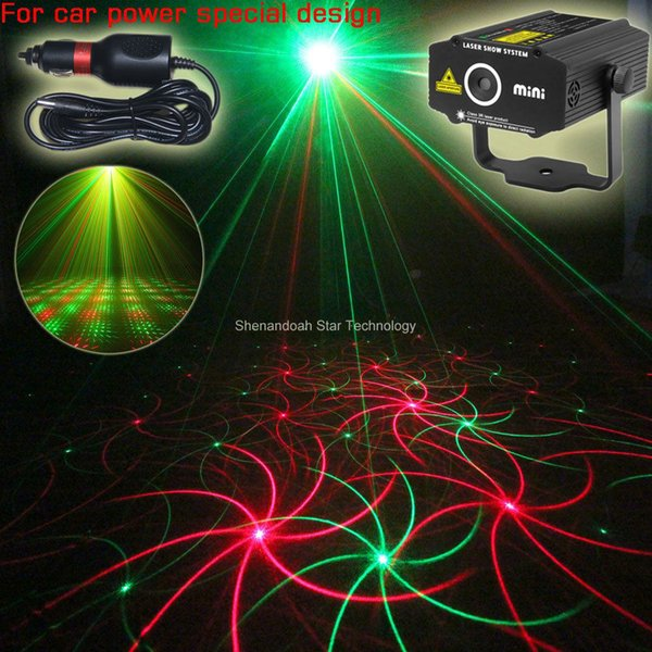 ESHINY Car Used Plug Mini R&G laser 2 patterns Projector field outdoor garden hillside Park Party effect Stage Light Show CR2