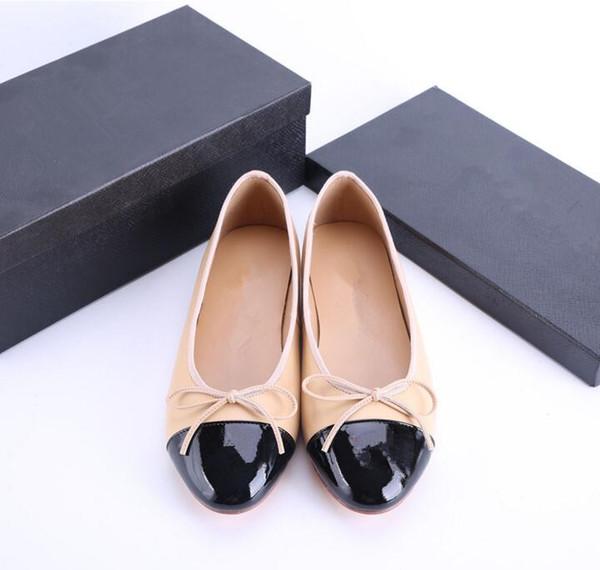 Mulheres de verão Mocassins Casuais Flats Saltos Dedo Do Pé Redondo Preto E Branco Loafer Shoes Pure Color Moda Mulheres Sapatos Todo o Tamanho