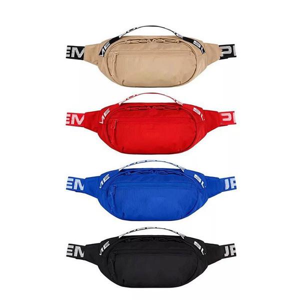 Sup Fanny Pack Waist Bag Men Canvas Hip-Hop Belt Bag Men Messenger Bags Shoulder Bag 18SS 44th