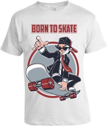 Nacida Skate Camiseta Hombre Mujer Skater Skateboard Camiseta