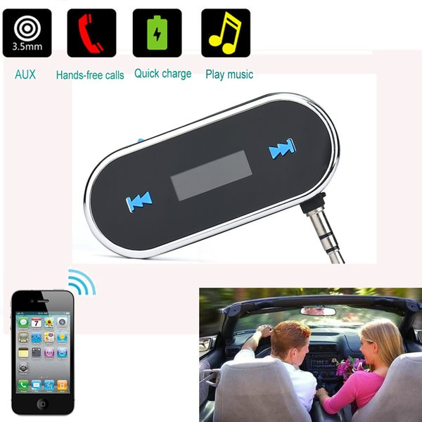 CARPRIE Wireless LCD Car Kit MP3 Player Handsfree FM Transmitter Radio Adapter 3.5mm AUX TJ