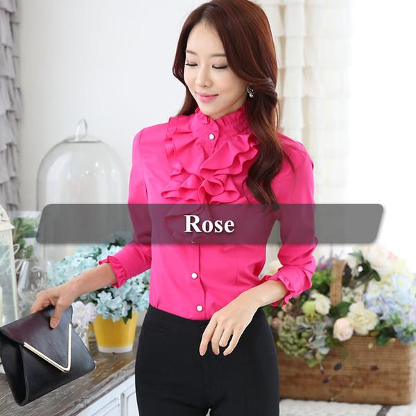 Роза красная блузка