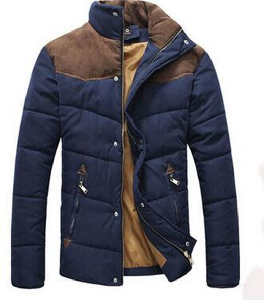 2017 Autumn Wadded jacket male outerwear Winter Fashion short thick warm parka cotton-padded clothes men's coat jacket top z30