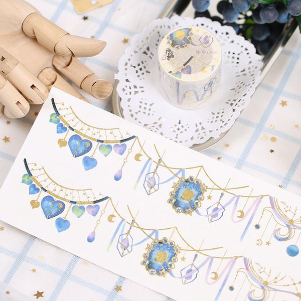 Il nastro adesivo decorativo di alta qualità Creative Diamond 43mm * 5M DIY Washi 2016
