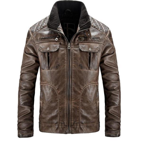 mens designer jackets slim sheepskin coat motocycle leather jacket men brand pilot jacket leather pelt bomber jackets