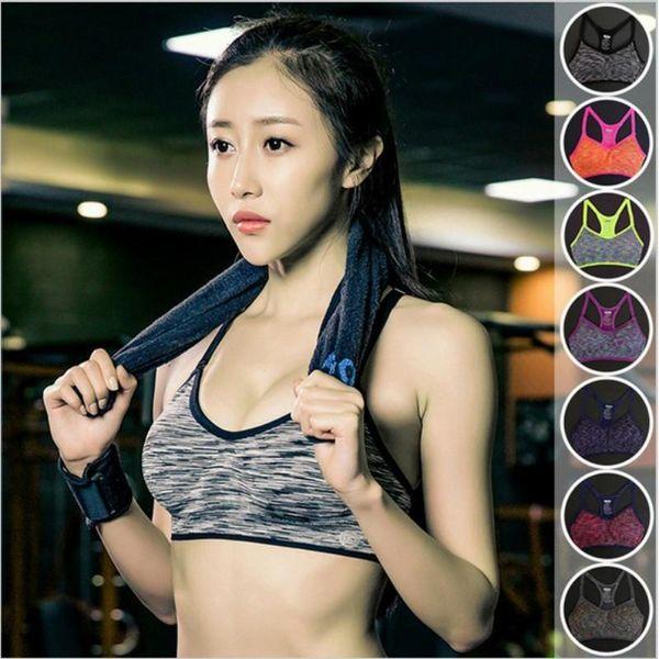 Sports Bra Women Fitness Yoga Padded Push Up Breathable Gym Bra Sujetador Brasieres Deportivos Soutien Gorge Sport Top
