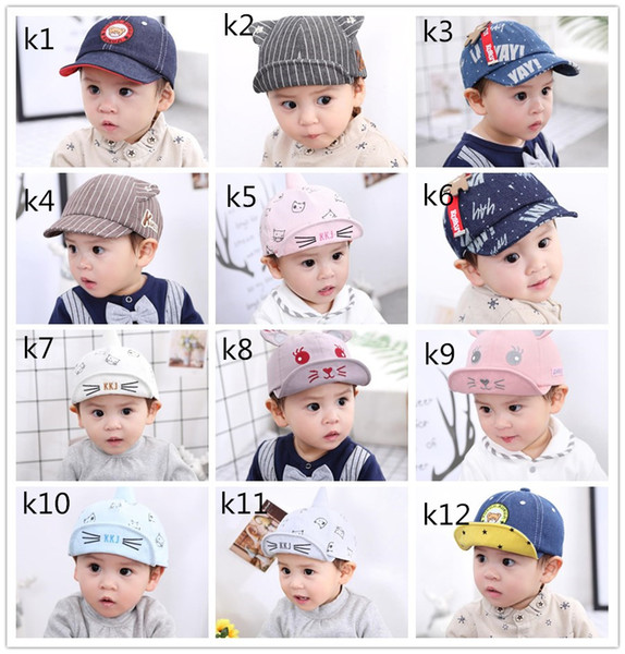 best selling Wholesale baby hats spring and summer boy cap children's baseball caps female baby cute soft visor hat