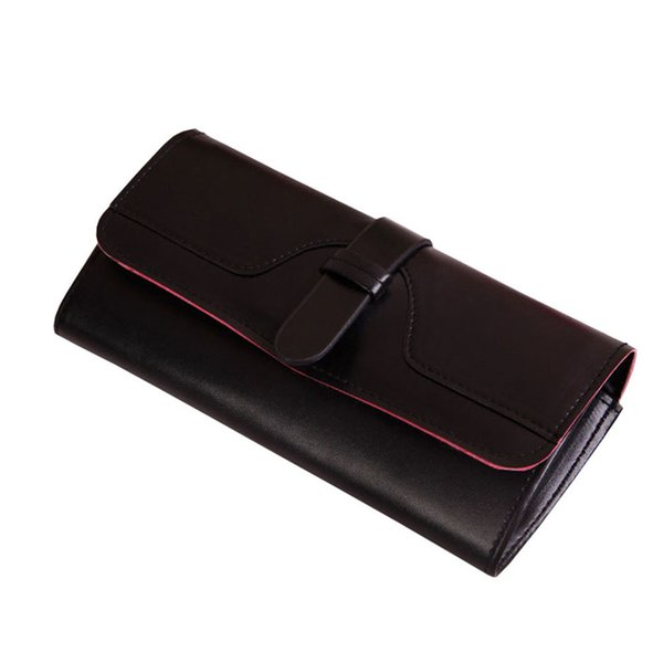 2017 New Design Fashion Large Capacity Leather Clutch Checkbook Wallet Card Holder Purse For Women Female High Grade Bag A9