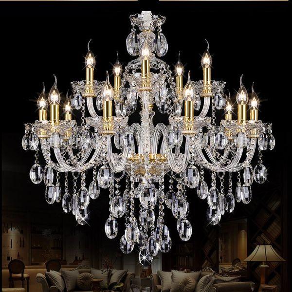 Chandelier Modern crystal Large chandeliers Luxury Modern Chandelier Lighting fashion Luxury Gold transparent K9 Crystal