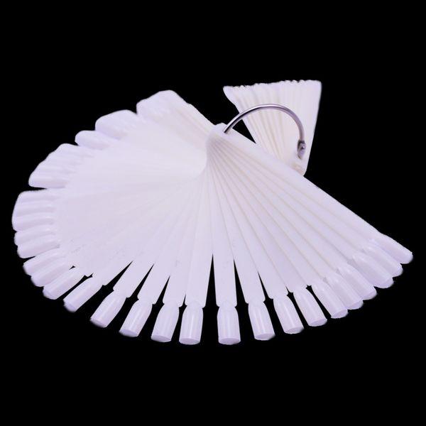 1Set False Nail Tips Nature Clear White Fan Finger Full Card Nail Art Display Practice Acrylic UV Gel Polish Tool Manicure