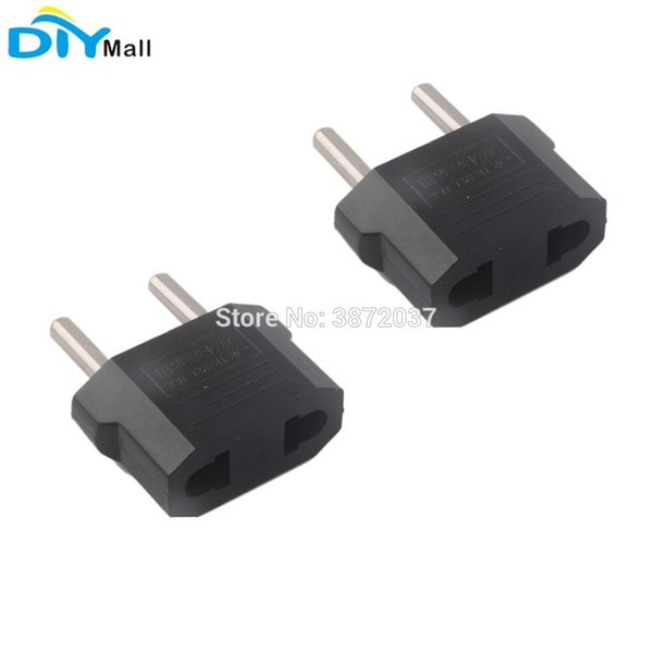 2pcs / lot 2 broches US AU Plug Plug Converter to EU Adapter