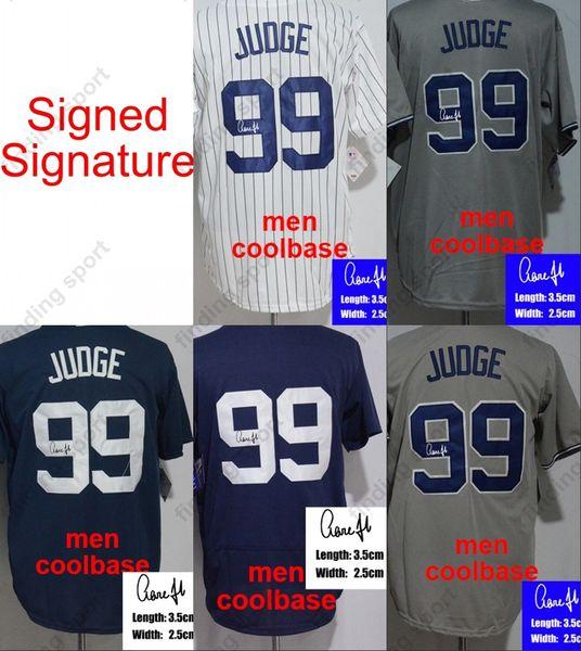 innovative design 06444 7e78a 2018 Signed/Signature 99 Aaron Judge Baseball Jerseys Men Women Kid Youth  Coolbase Flexbase White Black 2018 New Home Away From Fanatics04, $16.25 |  ...