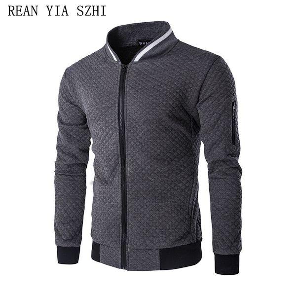 nouvelle arrivee 823ca 8fc67 Hot 2018 New Trend White Fashion Men Jacket Men Veste Homme Bomber Fit  Argyle Zipper Varsity Jacket Casual Jacket For Fall Mens Long Jackets Coats  ...