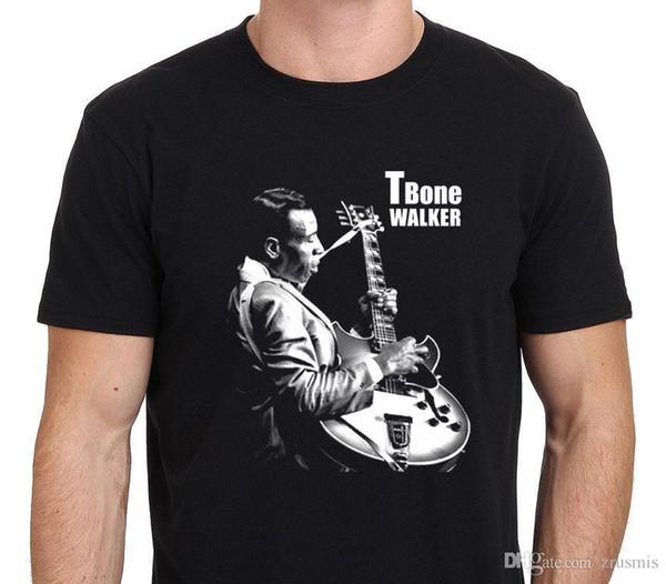 Hot Sale Fashion T-BONE WALKER jazz Blues Legend Gutarist T-shirt Men's Black Size: S-XXL Printed T Shirts Men's Streetwear