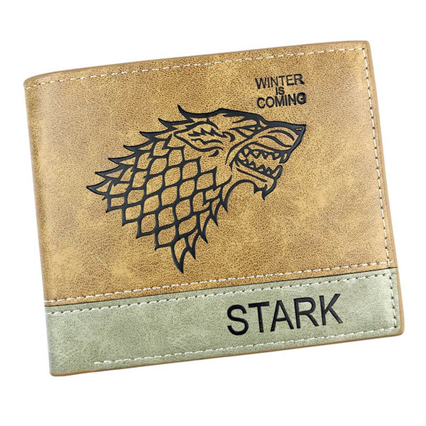 Game of Thrones Anime Wallet Printed With Wolf head Card Holder with Coin Pocket for Woman/Man Gift Purse