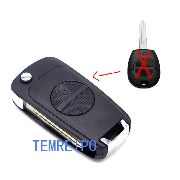 2 Button Folding Car Key Shell Modified For Nissan Primera Micra Terrano Almera X-trail Remote Flip Auto Key Case Cover