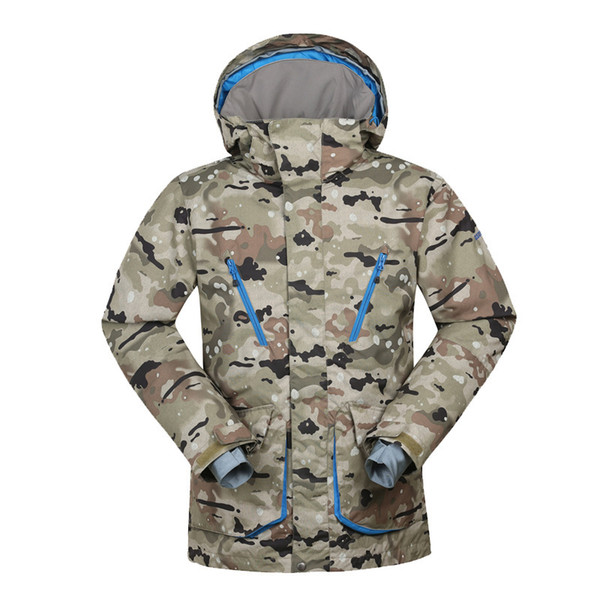 GSOU SNOW Men's Skiing Suit Windproof Waterproofing Ski Jacket Outdoor Wear Resistance Breathable Ski Wear For Men