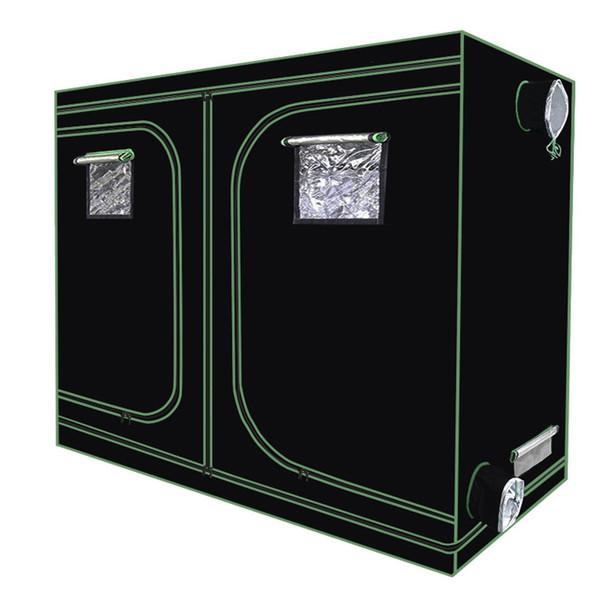 Tenda riflettente in mylar riflettente Stanza verde della pianta con finestra di obeservation e vassoio del pavimento per fiori interni Pianta in crescita impermeabile
