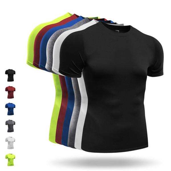 Men's Running T-Shirts Sports Tights Breathable Training Tank Tops Cycling Basketball Running Gym Short Sleeves Shirt Man XXXL