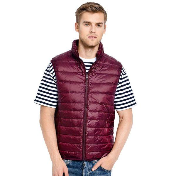 2018 New Arrival hot Men Sleeveless Jacket Winter Ultralight White Duck Down Vest Male Slim Vest Mens Windproof Warm Waistcoat