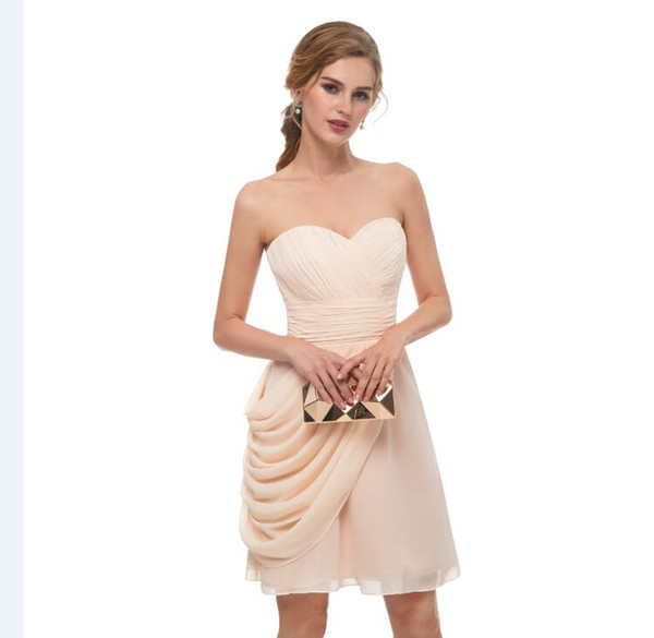 2018 New Chiffon In Stock Short Homecoming Dresses Under 50 Real Photos  Sweetheart Mini Party Gowns 8th Graduation Dress 13669 Homecoming Dresses  For ...