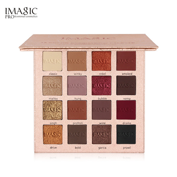 Imagic 16 Color Charming Eyeshadow Palette Highly Pigmented Glitter Eye Shadow With Matte Colors Easy To Wear Make Up Palette