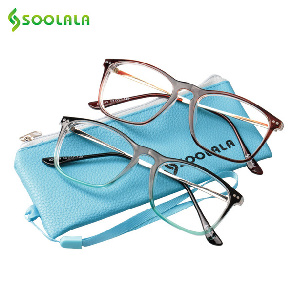 SOOLALA Oversized Women Men Full Rimmed Reading Glasses Large Horn Clear Lens Eyeglass Frame Reading Glass +0.5 1.5 2.5 to 4.0