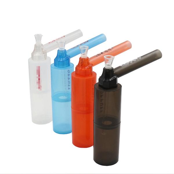 Portable eau narguilé vis sur bouteille convertisseur portable pipe à eau portable fumer bong fumer voyage sur la route
