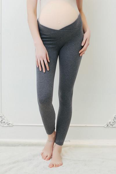 Printemps Automne Legging De Maternité Taille Basse Grossesse Pantalon De Ventre Pour Les Femmes Enceintes Maternité Pantalon Mince Vêtements Leggings