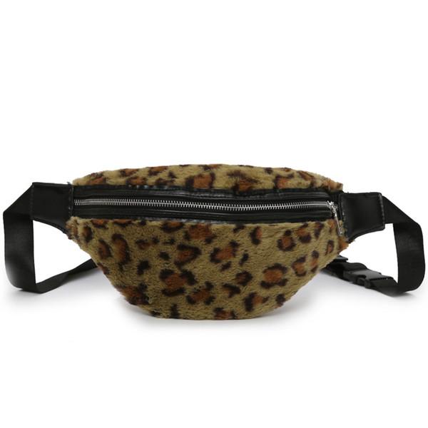 Fashion Leopard Print Fur Design Pillow Type Ladies Shoulder Bag Handbag Casual Crossbody Messenger Bag For Women Bolsa